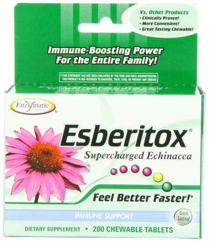 Esberitox is an immune booster with an echinacea base along with thuja and baptisia