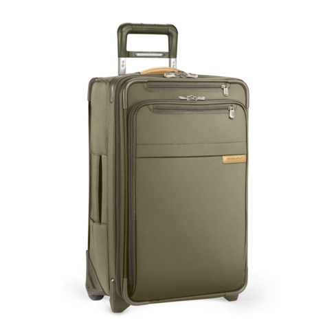 The Domestic Carry-On Expandable Spinner by Briggs & Riley has patented CX Expansion-Compression Technology