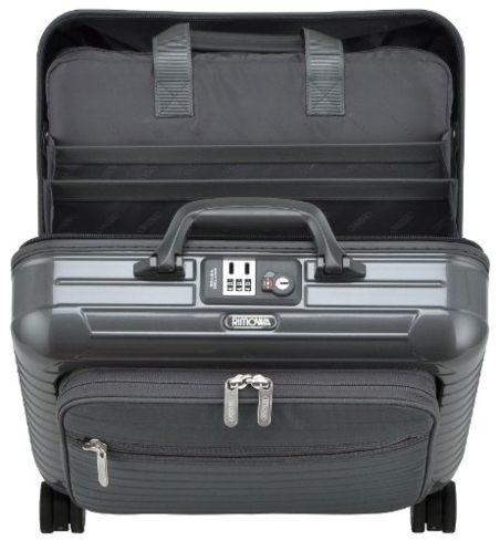 Rimowa's Salsa Deluxe Hybrid Business Multi-Wheel Trolley comes equipped with a compartment for your laptop or iPad
