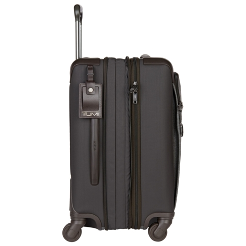 Tumi's Alpha 2 Continental Four-Wheeled Carry-On is made of FXT Ballistic Nylon that makes the case ultra-durable