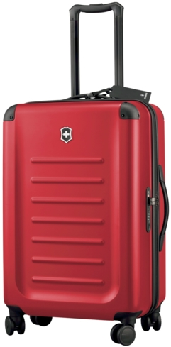 The Spectra 8-Wheel Travel Case by Victorinox is made out of 100 percent Bayer polycarbonate