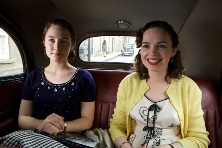 Saoirse Ronan and Eileen O'Higgins in Brooklyn (Photo by Kerry Brown - © 2015 - Fox Searchlight Pictures)