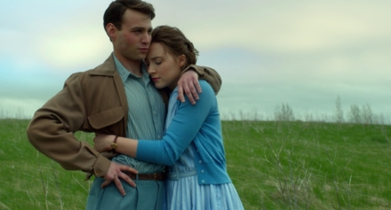 Saoirse Ronan and Emory Cohen in Brooklyn (Photo by Kerry Brown - © 2015 - Fox Searchlight Pictures)