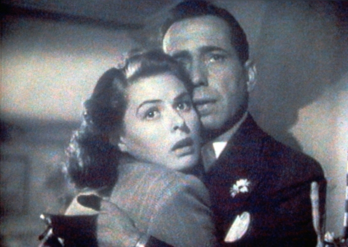 Humphrey Bogart and Ingrid Bergman star in Casablanca