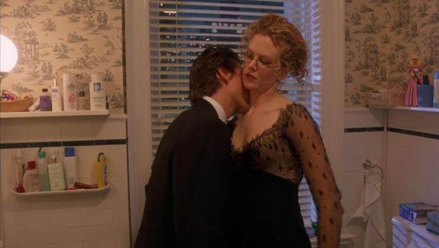Nicole Kidman plays the role of Alice Harford, an art curator, in Eyes Wide Shut.