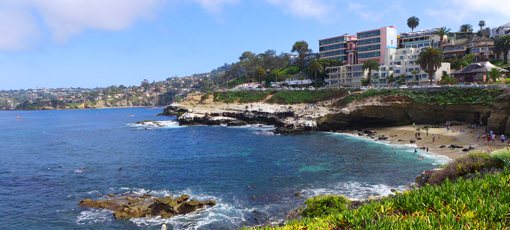 A view of San Diego county's Jewel by the Sea.