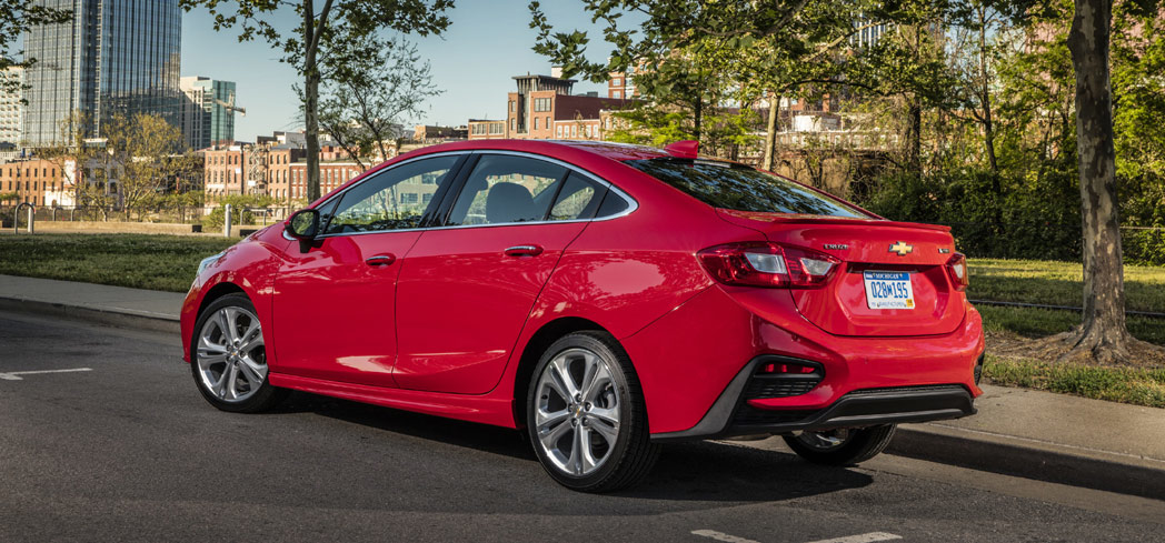 The 2016 Chevrolet Cruze, one of GAYOT's Top 10 Family Sedans