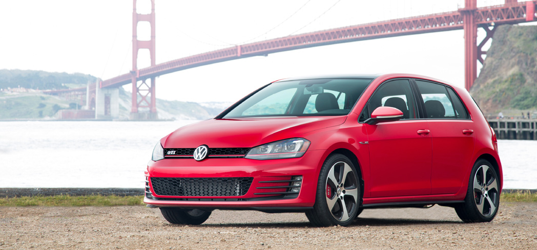 The 2016 Volkswagen Golf GTI 4-Door, one of GAYOT's Top 10 Hatchbacks