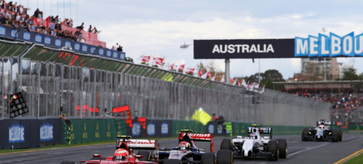 Racing to the finish line at the Formula One Australian Grand Prix
