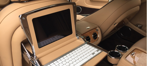 The luxe leather interior of the 2016 Bentley Mulsanne