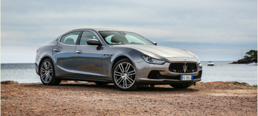 The 2016 Maserati Ghibli, one of GAYOT's Top 10 Luxury Sedans