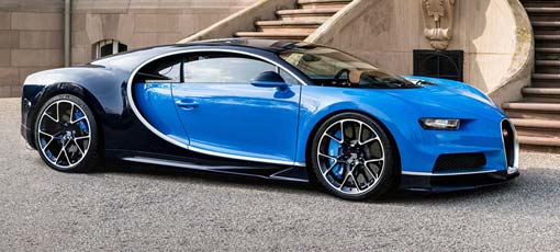 The 2017 Bugatti Chiron is one of GAYOT's Top 10 Supercars