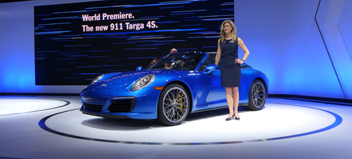 The world premiere of the 2016 Porsche 911 Targa at the LA Auto Show