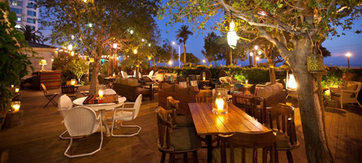 Mix and mingle at The Bungalow, an oceanfront lounge at the Fairmont Miramar Hotel & Bungalows in Santa Monica