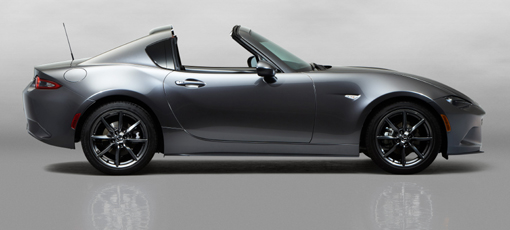 The 2017 Mazda MX-5 Miata RF, one of GAYOT's Top 10 Sports Coupes