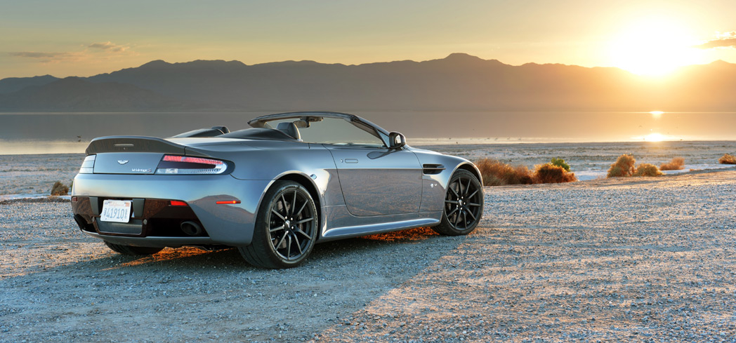 The 2017 Aston Martin V12 Vantage Roadster, one of GAYOT's Top 10 Convertibles