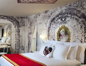A guest room at W Las Vegas