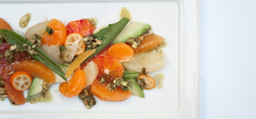 Check out GAYOT's ratings for Los Angeles restaurants | Lucques citrus salad dish