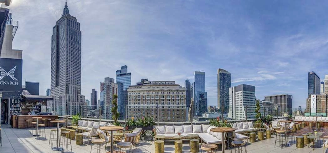 Monarch Rooftop Lounge, one of GAYOT's Best Outdoor Dining Restaurants in New York