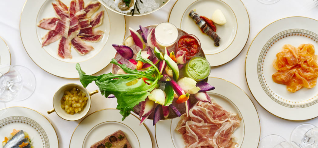 Crudites and charcuterie at The Grill restaurant in New York (photo credit: Adrian Gaut)