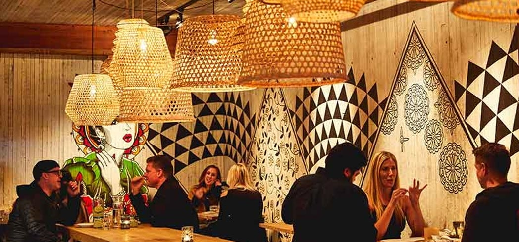 Interior of Flores restaurant in San Francisco (photo credit: Aubrie Pick)