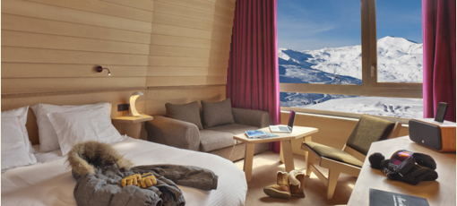 A luxurious guest room at Altapura, one of GAYOT's Top 10 Hotels in France