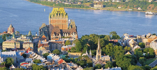 An aerial view of Québec City