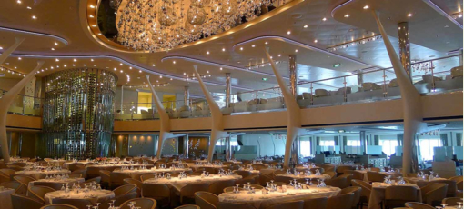 The dining room of Grand Epernay aboard Celebrity Cruises' Celebrity Solstice