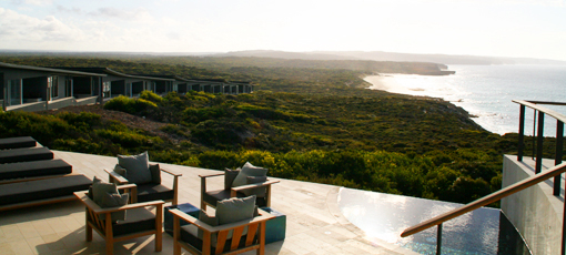The view from Southern Ocean Lodge in Australia