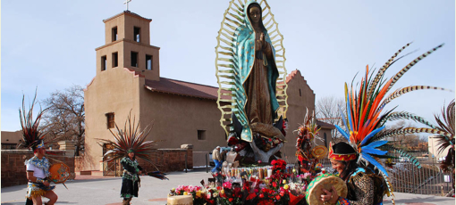 Dancers at Guadalupe Church in Santa Fe, New Mexico