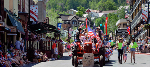 A Fourth of July parade in Park City