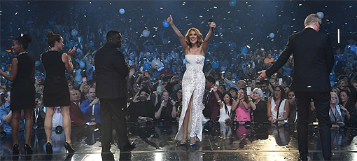 Céline Dion celebrates 1,000th show at the Colosseum at Caesar's Palace in Sin City