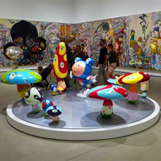 One of the exhibits at The Broad in Los Angeles, California