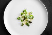 Atera, NY: Grilled Asparagus, Milk Skin, Lovage and Whey