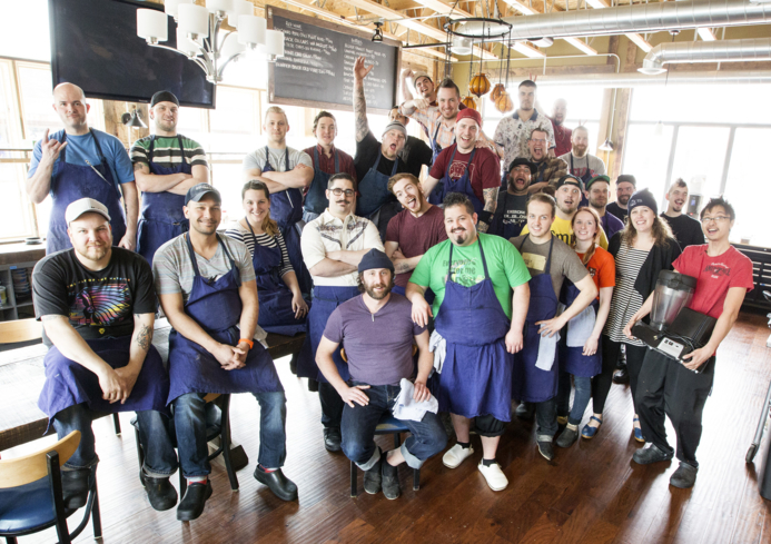 Travail Kitchen & Amusements, Robbinsdale MN: Team (photo Courtney Perry)