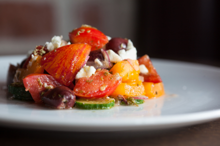 Helen Greek Food and Wine: Classic Greek Salad (photo Shannon O'Hara)