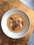 Kinship: Pan Roasted Redfish with Shrimp and Ham Jambalaya and Old Bay Emulsion (photo by @ericziebold)