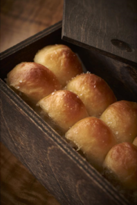 "Kinship: Chef Ziebold's Parker House rolls (these are served with all entrees ordered ""For the Table"" section) (Photo Greg Powers)"