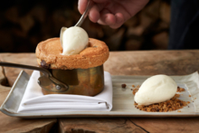 Kinship, Washington, D.C.: Chocolate chip cookie dough soufflé (created by pastry chef Anne Specker) (photo Greg Powers)