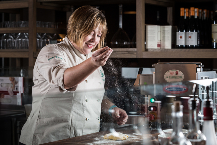 Monteverde, Chicago: Chef Sarah Grueneberg in Pastificio (Photo Galdones Photography)