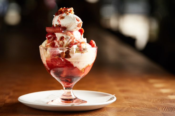 Monteverde, Chicago: Rhubarb Sundae (Photo Galdones Photography)