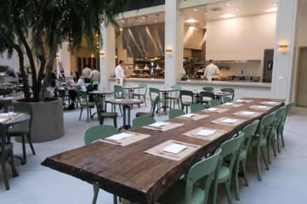 The bustling open kitchen at Spring