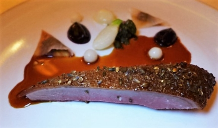 Eleven Madison Park: Roasted Duck with Turnip and Huckleberries