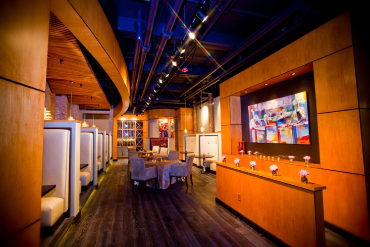 Surrounded by art, fine dining in a restored historic building could not be more exciting
