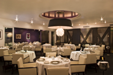 Dining room at Mélisse restaurant