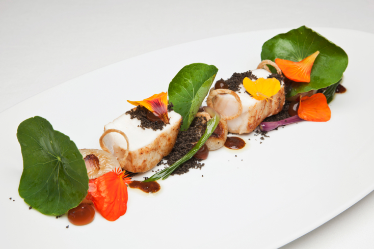 Providence: Halibut with Nasturtiums