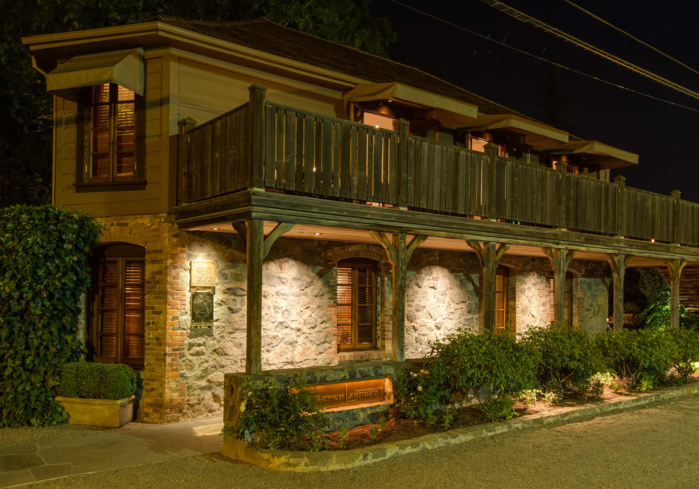 The French Laundry: Exterior at Night (photo Drew Altizer)