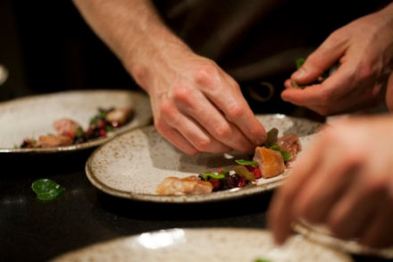 The Willows Inn: Plating (photo Charity Burggraaf)