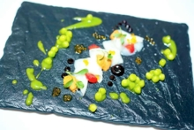 Japanese snapper crudo with California uni | Americana | Chef Stephen Blandino | Las Vegas