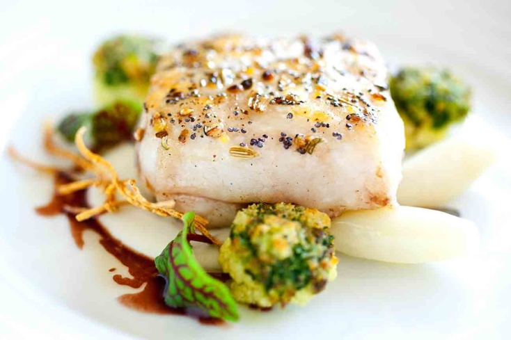 Slow roasted line caught halibut | Everest, Chef Jean Joho, Chicago